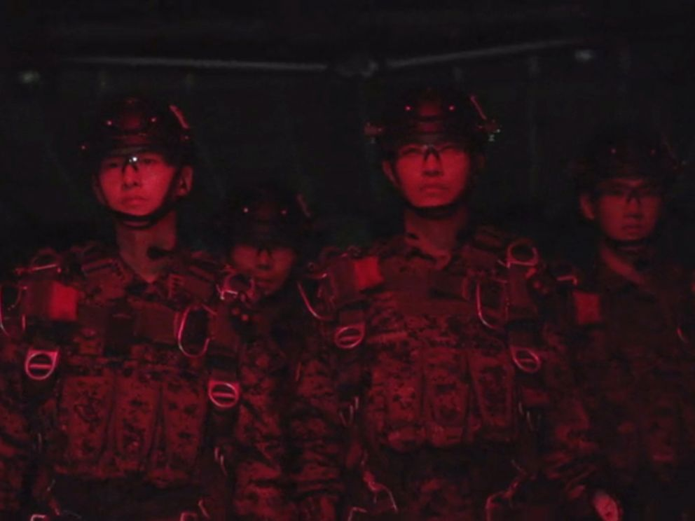 PHOTO: Actors portray members of the military in the first episode of the South Korean television drama, Descendants of the Sun, in 2016.