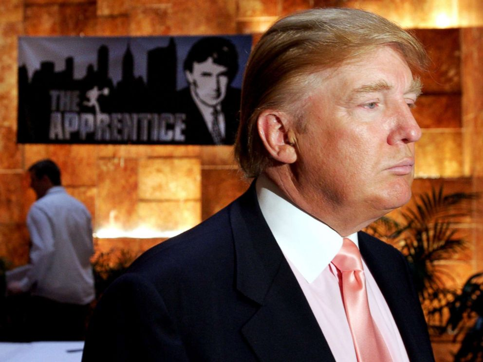 PHOTO: Donald Trump is photographed at an advertising event where he interviewed candidates for the fifth season of NBC's The Apprentice, July 8, 2005.