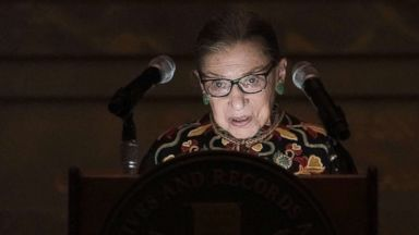 Justice Ruth Bader Ginsburg hails immigrants as debate rages over asylum seekers