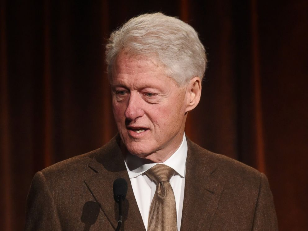PHOTO: Bill Clinton speaks on stage at the Food Bank for New York City Can-Do Awards Dinner 2017, April 19, 2017. in New York.