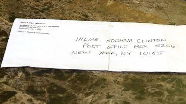 Teacher misspells Hillary Clinton's name on letter as 'Hiliar,' Chelsea Clinton responds