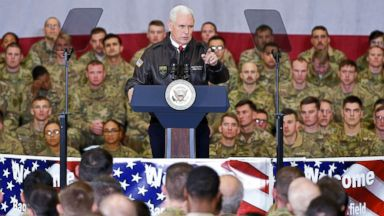 Vice President Mike Pence makes surprise trip to troops in Afghanistan in first trip to a war zone