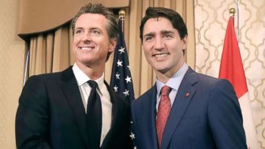 California's lieutenant governor charmed by Trudeau after meeting: 'The guy's got great hair'