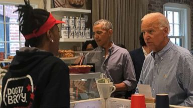 Obama and Biden together again - for surprise DC lunch