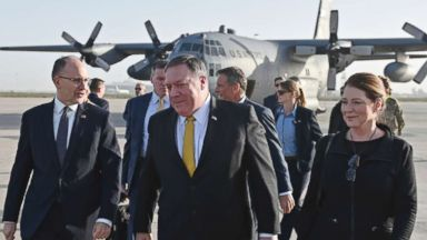Pompeo makes surprise visit to Baghdad and Erbil to reassure Iraqi officials on US Syria withdrawal