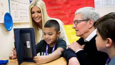 Ivanka Trump gets a first-hand look at tech partnership with Apple