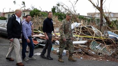 President Trump, first lady visit FEMA for hurricane briefing amid Puerto Rico death toll controversy