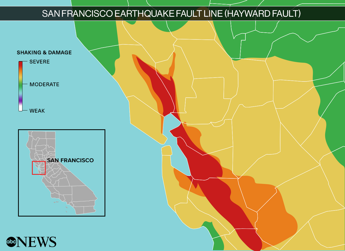 Bay Area Earthquake Could Lead To Massive Loss Of Life And Property Usgs Report Abc News The earth is constantly moving because of which there is a continuous movement of the rocks. abc news