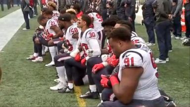NFL Texans kneel during the pregame over owner's comparing players to 'inmates'