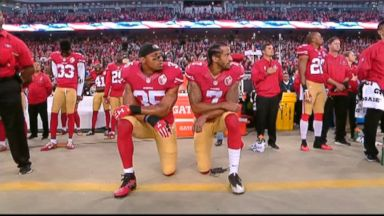 NFL mandates that players on the field stand for national anthem
