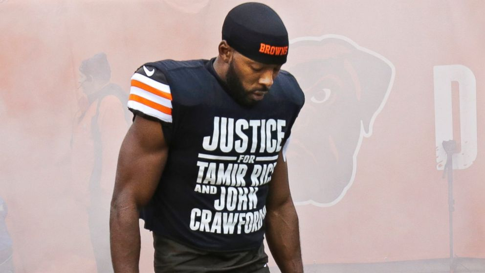 Cleveland Browns Player Andrew Hawkins Defends T Shirt