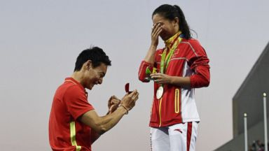 Silver Medal, Plus a Marriage Proposal for Chinese Diver
