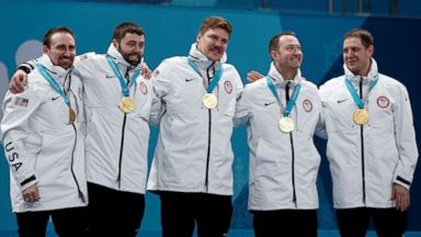 American men's curling team wins gold medal for 1st time ever at Olympics 2018