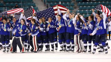 US women's hockey team finally gets gold in dramatic final against rival Canada