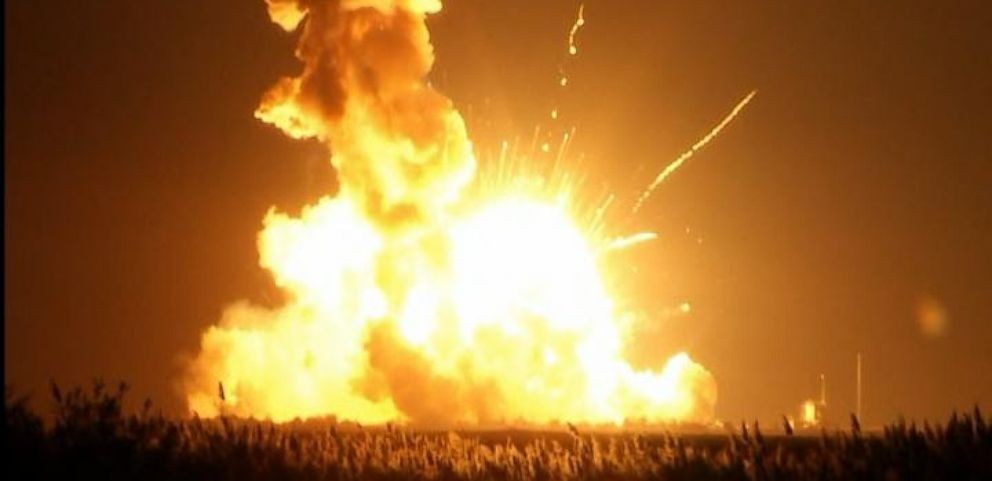 nasa contracted rocket explodes on launch for space
