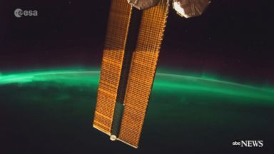Aurora seen from International Space Station