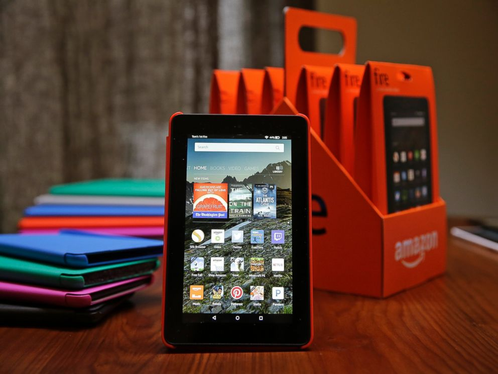 amazon fire tablet what the 50 computer can do abc news. Black Bedroom Furniture Sets. Home Design Ideas