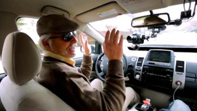 Blind Man Tests Google S Self Driving Car Video Abc News