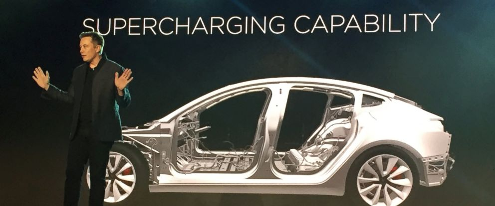 Tesla Model 3: First Look at Elon Musk's Electric Vehicle ...