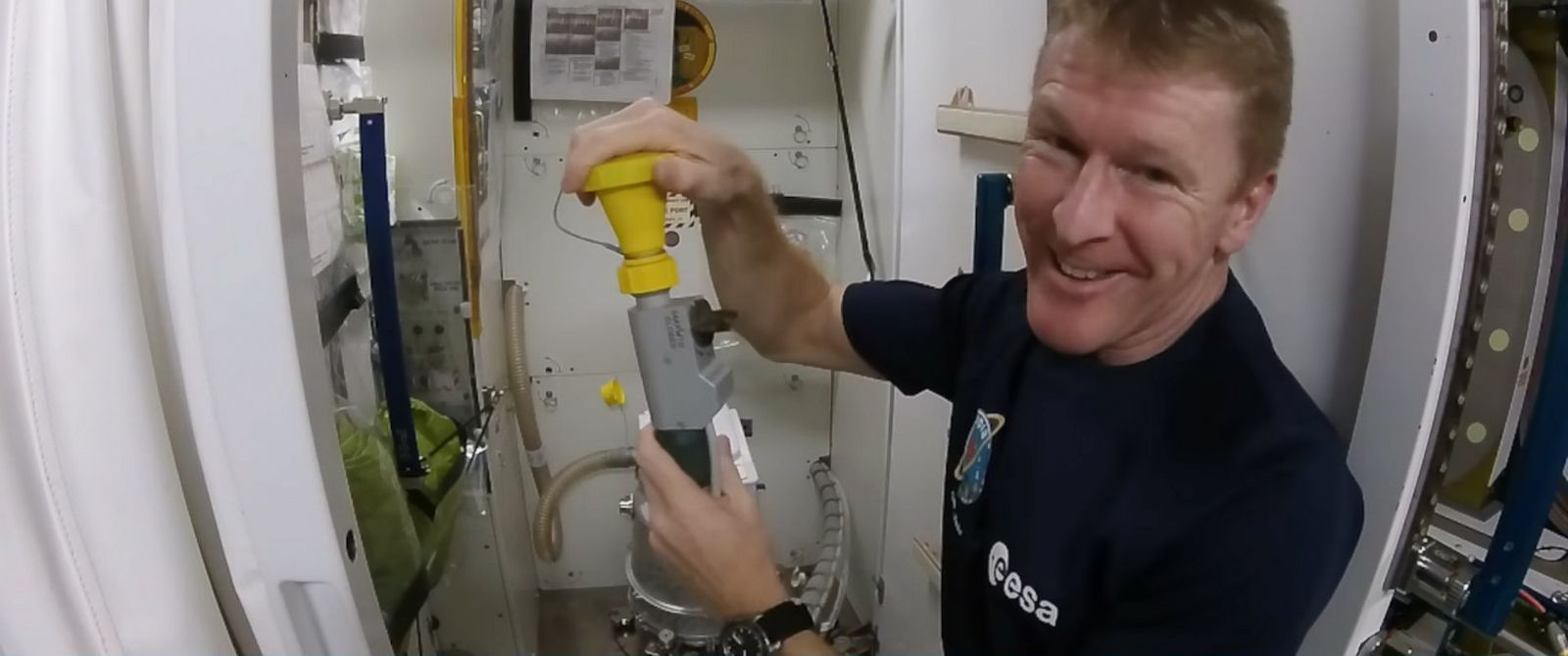 Astronaut Tim Peake Shows How To Use Space Toilet In Zero