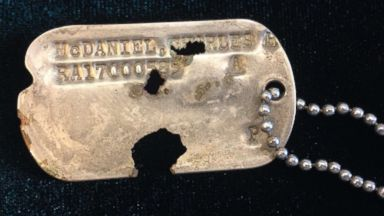 Sons of missing Korean War soldier receive his dog tag