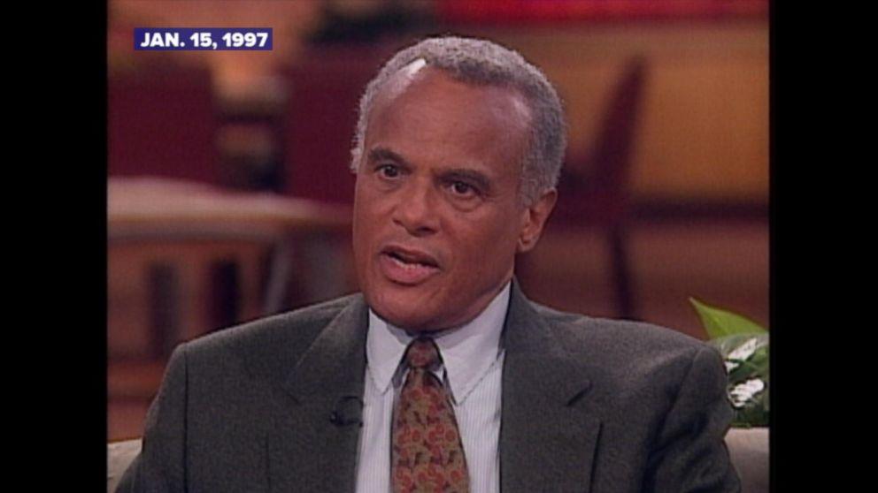 Archival Video Harry Belafonte Talks About Battling