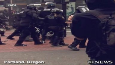 Portland May Day protests turn violent