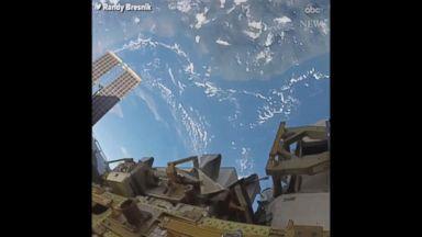 NASA astronaut enjoys the view during spacewalk