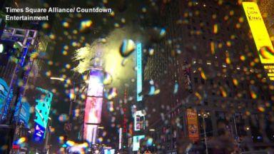 Confetti fills the sky in NYC