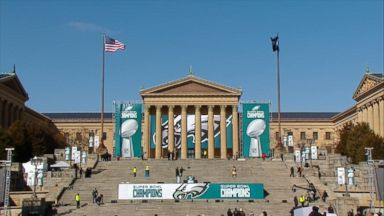 Super Bowl victory parade underway in Philadelphia
