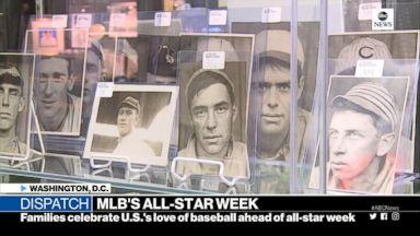 Baseball memorabilia on display