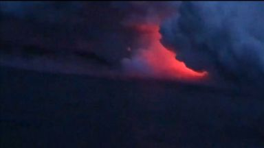 New video shows moment of lava bomb explosion