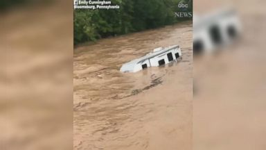 Camper washed away in Pennsylvania flooding