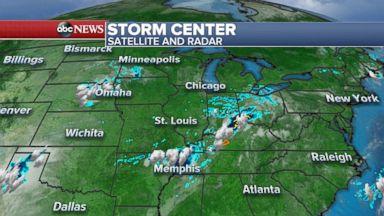 Flash flooding in Kansas as heavy rains travel East
