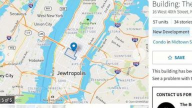 Anti-Semitic vandal attacked map software, labeled New York City with slur