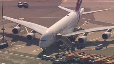 Authorities investigating reports of flight with up to 100 ill people at New York airport