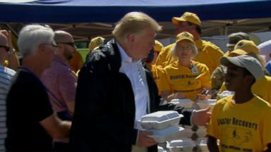 President Trump visits Carolinas in the wake of Hurricane Florence