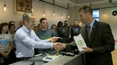 Mayor makes first legal marijuana purchase in Massachusetts history