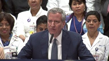 NYC mayor unveils health care program for all New Yorkers