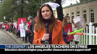 Los Angeles teachers unite on day 3 of strike