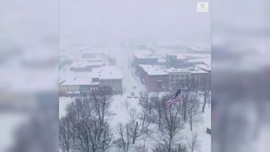 Drone footage shows Vermont under blanket of snow