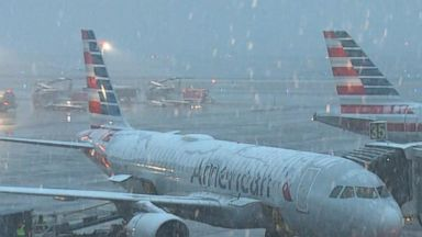 Flights canceled due to winter storm