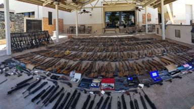 Over 550 guns seized from home of felon in Southern California