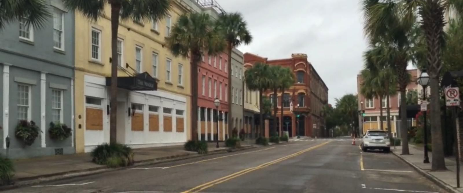 Hurricane Matthew Charleston Is A Ghost Town Ahead Of The