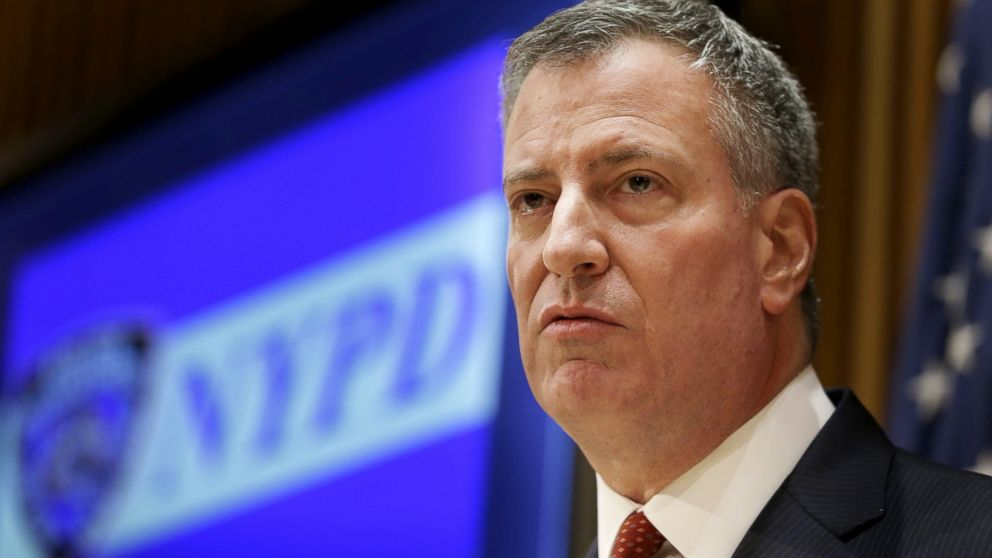 Image result for Mayor Bill de Blasio