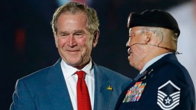 EXCLUSIVE: President Bush Hopes Invictus Games Will Put Wounded Vets in the Spotlight