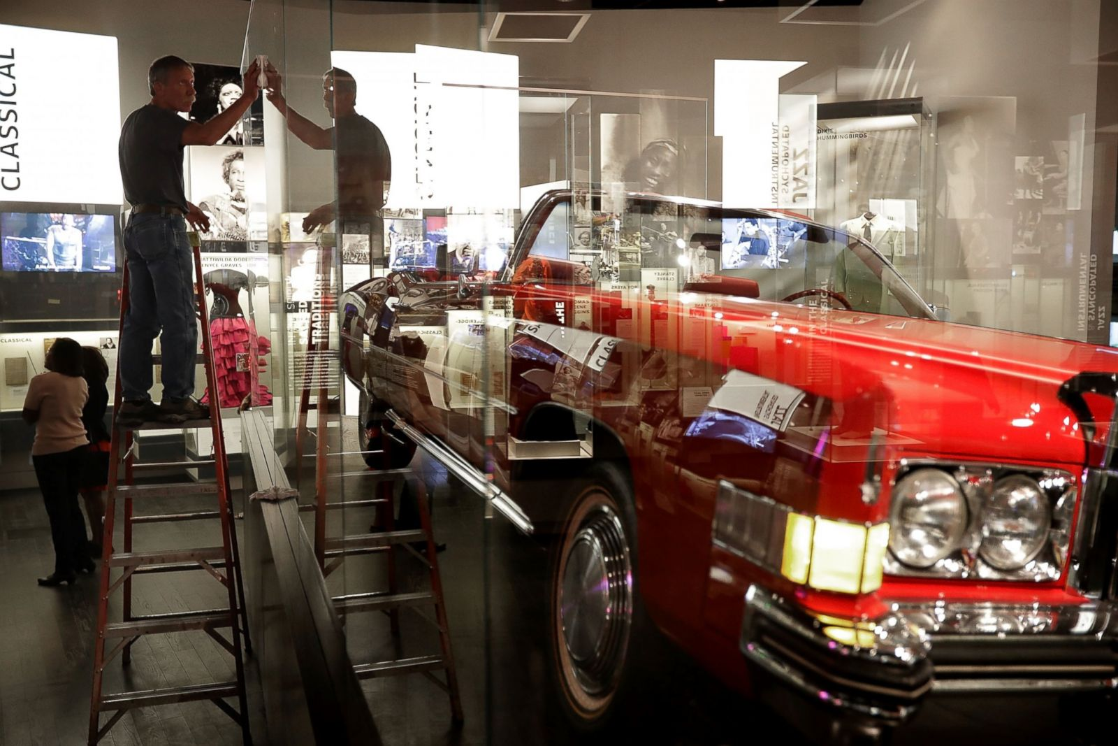 Picture Inside The National Museum Of African American History And Murdered Out 1955 Cadillac Culture Abc News