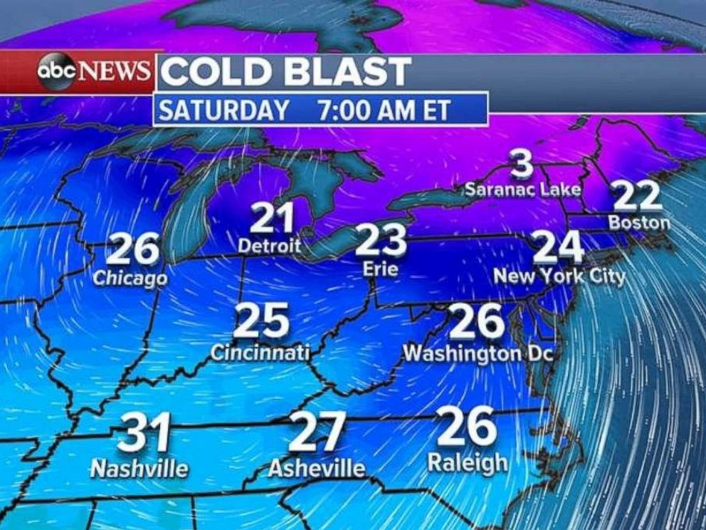 Record lows could fall in the Northeast on Nov. 11, 2017.