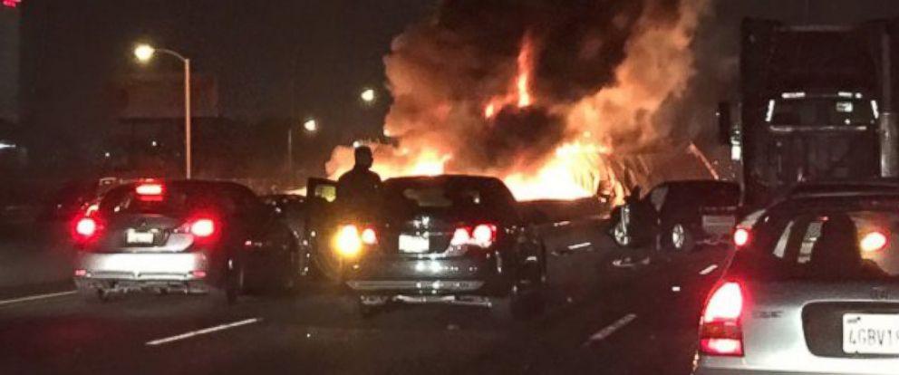 Car Crash Los Angeles: Three Killed In Fiery, Multi-Car Crash In East Los Angeles