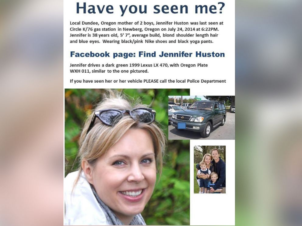 PHOTO: Jennifer Huston is seen in this image from the Find Jennifer Huston Facebook page her family set up.